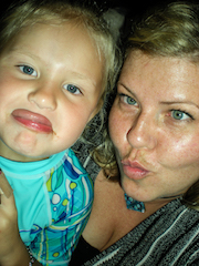 Rachel-with-little-cousin-doing-a-crazy-face-selfie-gold-coast
