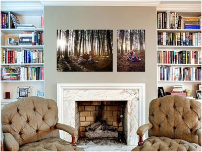 fire-place-displaying-family-art-portraits-feather-touch-photography-prints