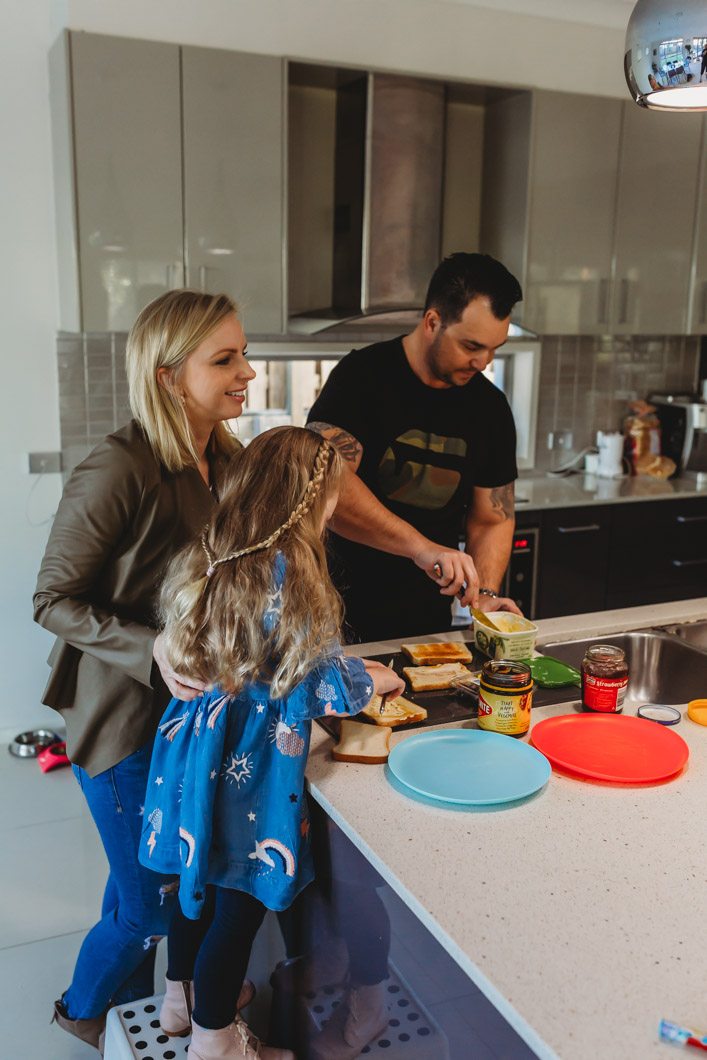 Parents-making-toast-with-kids-for-brunch-family-documentary-photography-gold-coast